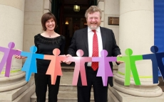 Dr Fiona Lyons with Minister for Health Dr James Reilly T.D.